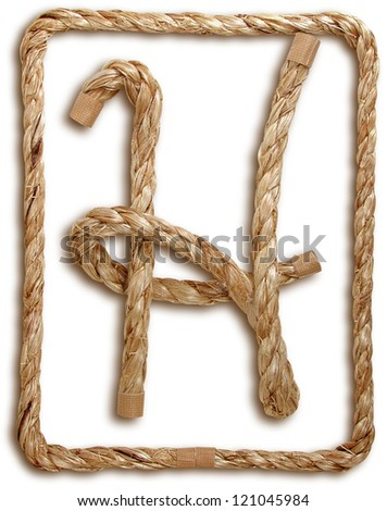 Photograph of Rope Letter H - stock photo