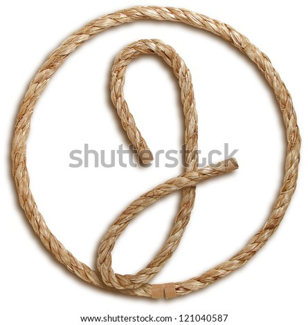 Photograph of Rope Letter J