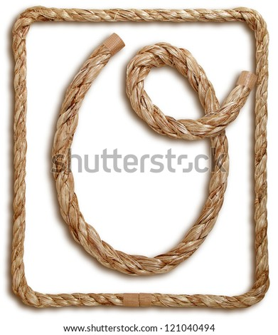 Photograph of Rope Letter O
