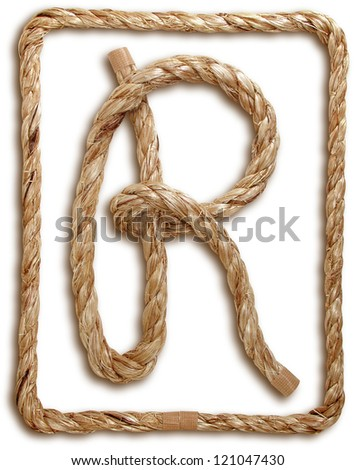 Photograph of Rope Letter R - stock photo