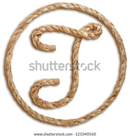 Photograph of Rope Letter T - stock photo