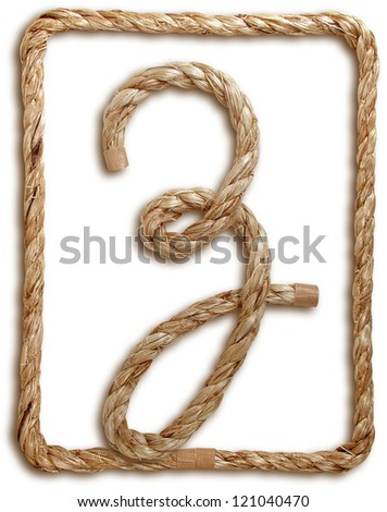 Photograph of Rope Letter Z - stock photo