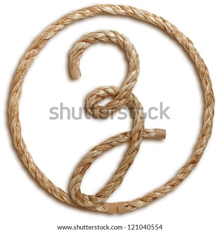 Photograph of Rope Letter Z