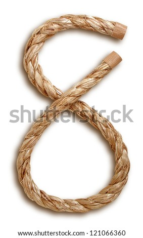 Photograph of Rope Number 8 - stock photo