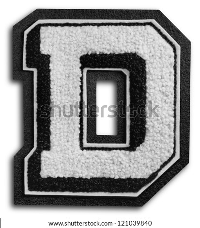 Photograph of School Sports Letter - Black and White D - stock photo