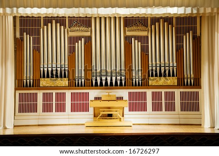 photograph of the music organ - stock photo