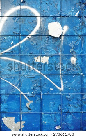 Photograph of urban grid collage background or paint texture - stock photo