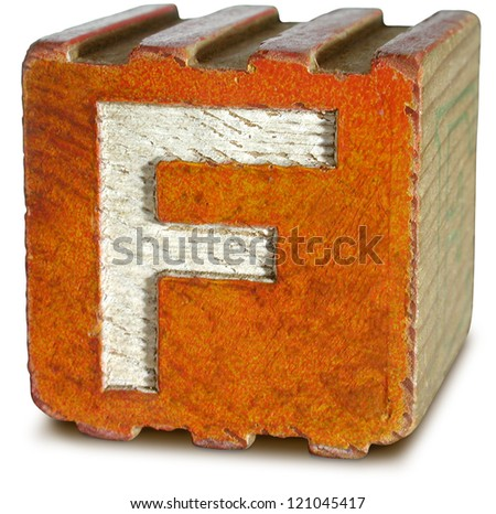Photograph of Wooden Block Letter F