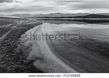 Photographed at Gabriel y Galan reservoir. Caceres. Spain. - stock photo