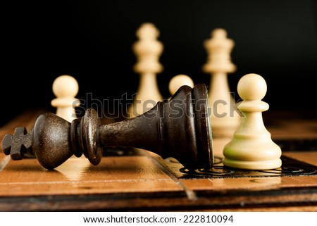 Photographed on a chess board