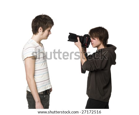 Photographer and a model