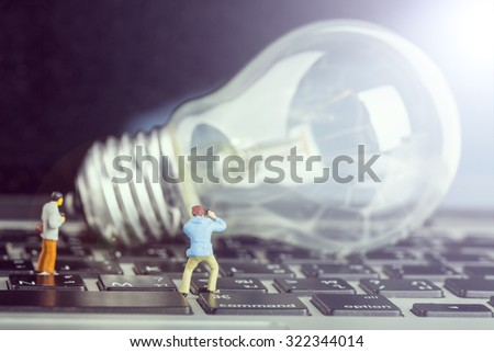 Photographer find creative idea for learning knowledge. - stock photo