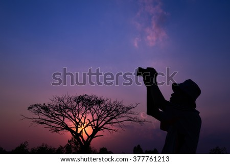 photographer silhouette