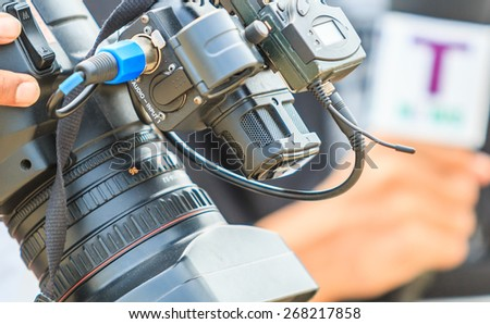 Photographers are taking a picture  - stock photo