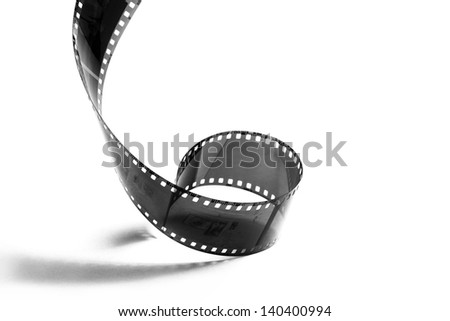 photographic film strip isolated on white background - stock photo