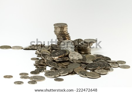 Photographic image of Australian coins (Australian dollar) - stock photo
