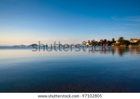 Photographs of the Mar Menor Sea in Murcia on a summer evening