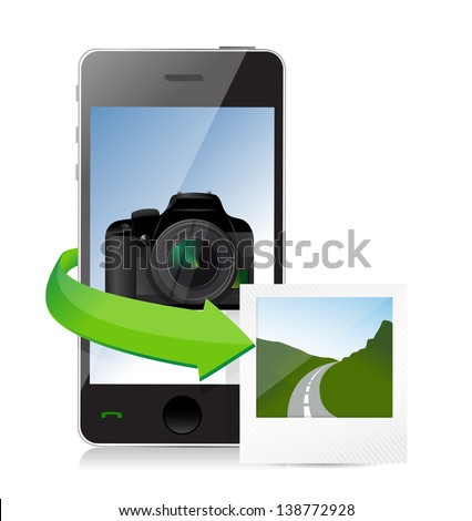 photography editing concept illustration design over a white background - stock photo