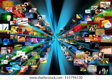 Photography internet gallery. Technology concept. - stock photo