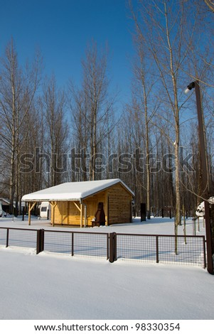 Photography of wooden house in the snow