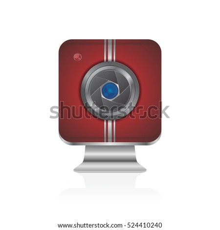 photography video camera multimedia icon sign glossy