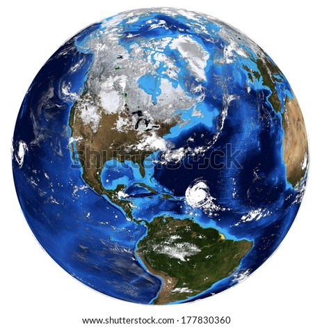 Photorealistic Earth. Elements of this image are furnished by NASA