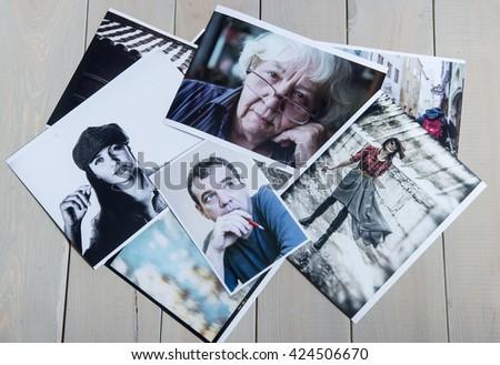 Photos from the family album. - stock photo
