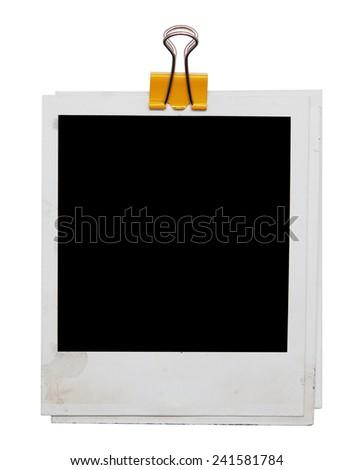 photos isolated on white - stock photo