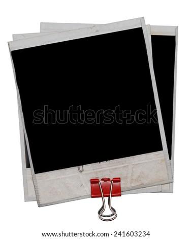 photos isolated on white background - stock photo