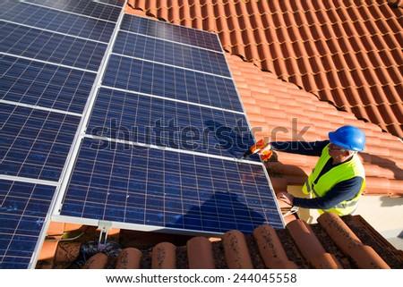 photovoltaic - stock photo