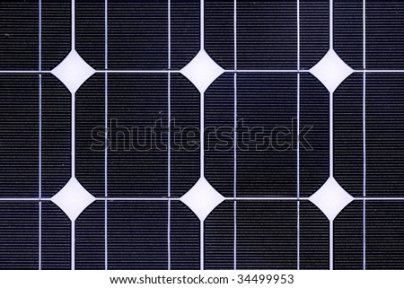 Photovoltaic cell in a solar panel - stock photo