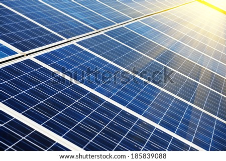 photovoltaic cells - stock photo