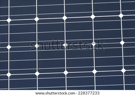 Photovoltaic Module with Monocrystalline Cells - Closeup