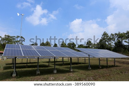 Photovoltaic or solar panel for renewable energy or electricity - stock photo