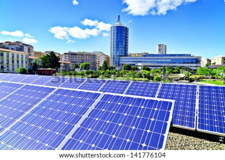 Photovoltaic panel - stock photo