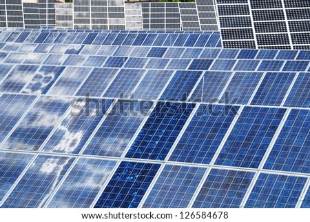 Photovoltaic panel background should be a way to ecologicval energy - stock photo