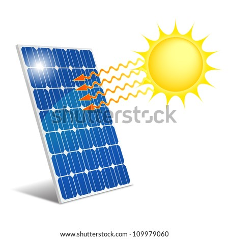 Photovoltaic panel exposed to sunlight