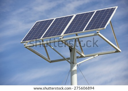 Photovoltaic panel for renewable energy production. - stock photo