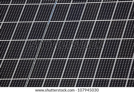 Photovoltaic panel of a Solar Power Station - stock photo