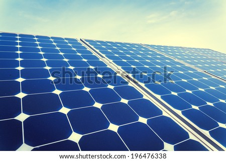 Photovoltaic panels - stock photo