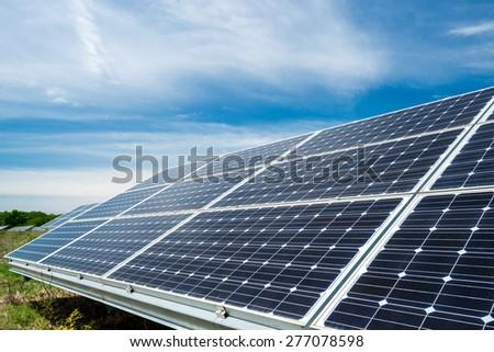 photovoltaic panels - alternative electricity source - stock photo