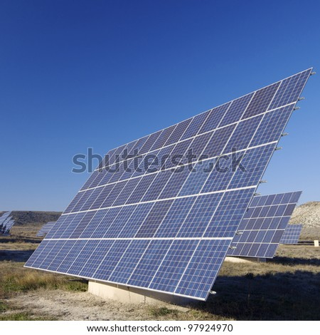 photovoltaic panels for renewable electric energy production