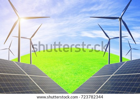 Photovoltaic power generation and wind power generation, solve future energy shortage