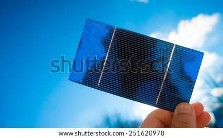 Photovoltaic Solar Cell - stock photo
