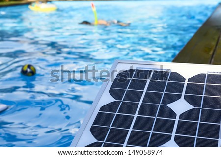 photovoltaic solar panel for heating water in the children's pool