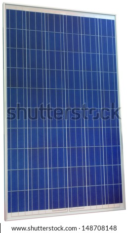 Photovoltaic Solar Panel Isolated with Clipping Path - stock photo