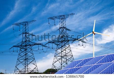 Photovoltaic system - stock photo