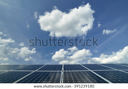 Photovoltaic system - stock photo
