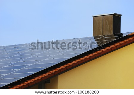 Photovoltaic system on a house roof