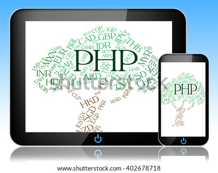 Php Currency Indicating Exchange Rate And Market - stock photo
